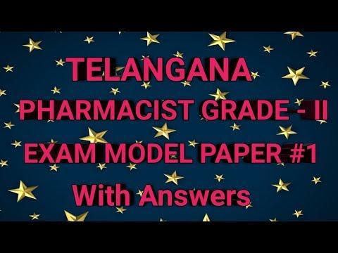 TELANGANA Govt Pharmacist Grade - II Exam MODEL PAPER #1 With Answers    Pharma Guide
