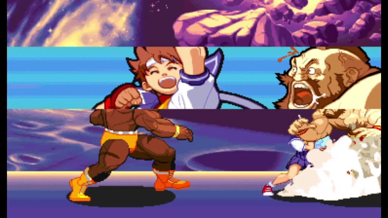 Marvel Super Heroes vs Street Fighter - Sakura / Zangief Playthrough ( Feb  12, 2016 )