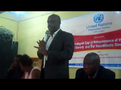 UN Information Centre (UNIC) Lagos Director speaks on Modern Day Slavery