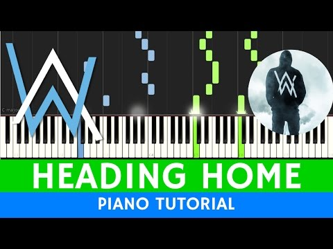 ALAN WALKER - HEADING HOME - PIANO TUTORIAL with MIDI / SHEETS