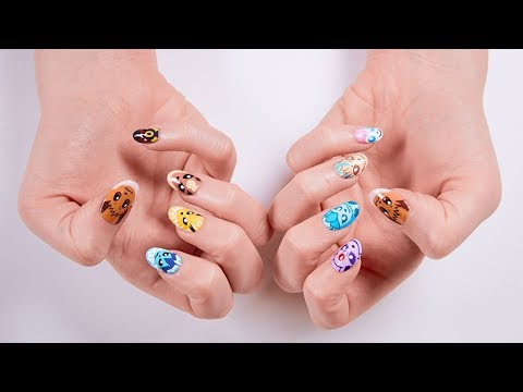 Eevee Evolution Nail Art