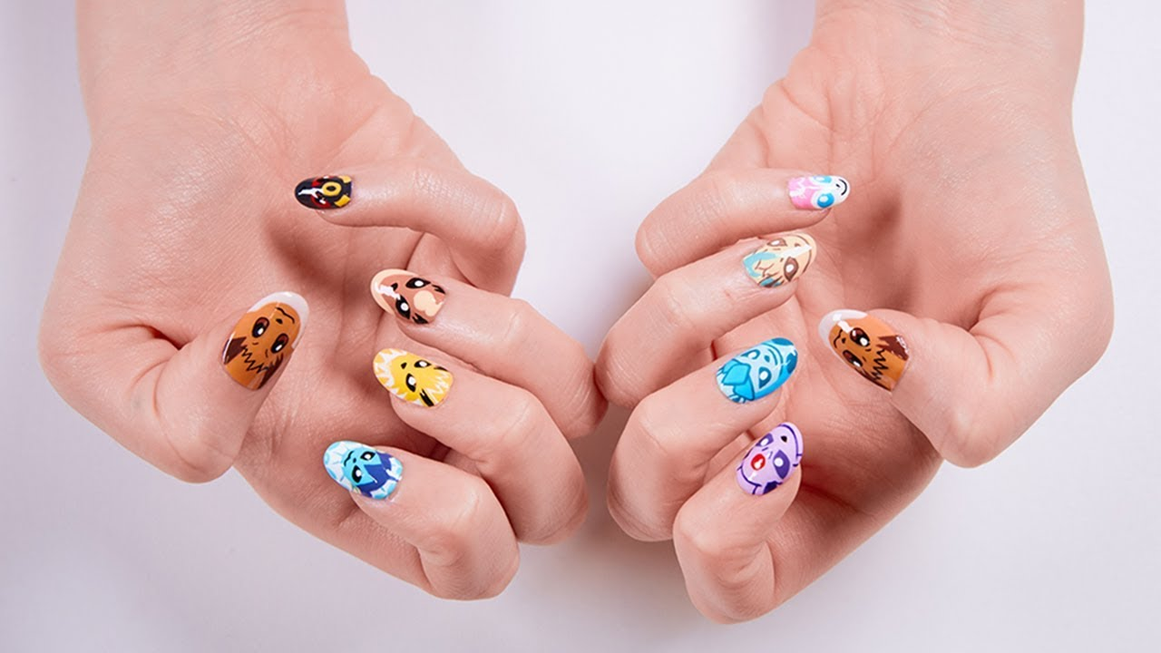 Latest Trend From Pokémon Nail Art Featuring Eevee