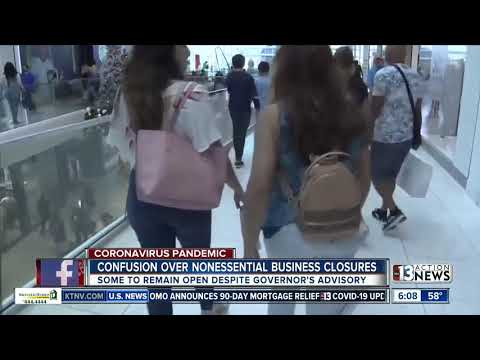 Confusion remains over nonessential Vegas businesses closures