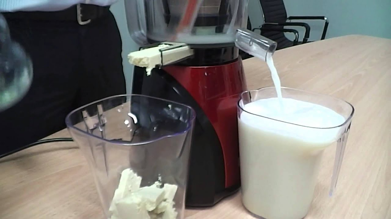 Slow Juicer Coconut Milk : 7 Smile Slow Juicer - Soy Milk with Black Sesame - YouTube