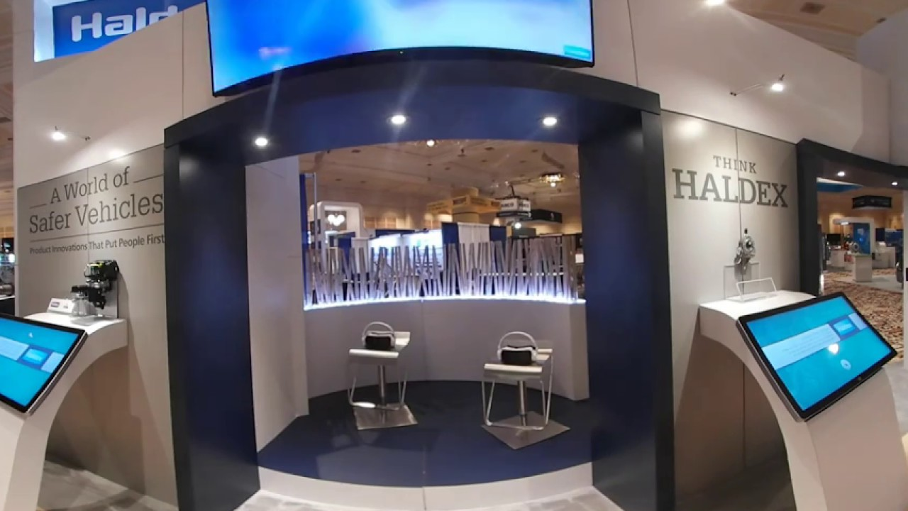 Exhibition Booth Setup : Haldex trade show booth vr youtube