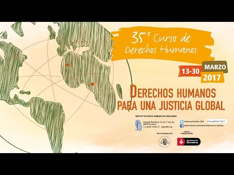 Luís Moreno Ocampo, 1er fiscal jefe 'Corte Penal Internacional', inauguró 13/3/17 35º Curso DDHH.