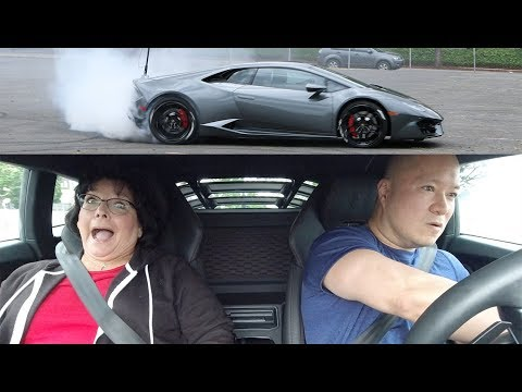 Grandma Reacts to Lamborghini Launch & Donuts (HILARIOUS)