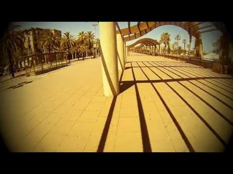 Barcelona skating along the beach with my Vinyl Cruiser & GoPro Hero3 Black Edition
