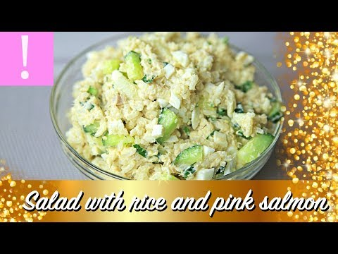 🔴  Salmon Salad with Rice and Cucumber | Canned Salmon Recipes | Cheap easy meals on a budget