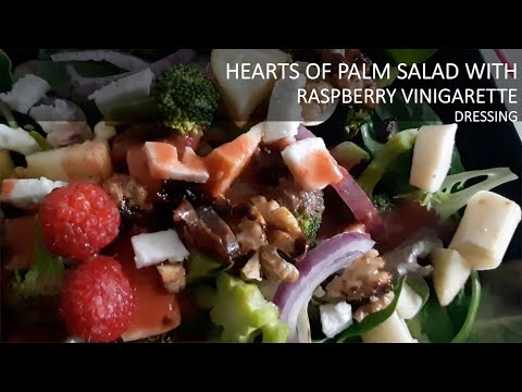 HEARTS OF PALM SALAD WITH PECANS & RASBERRY VINAIGRETTE DRESSING