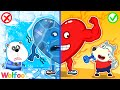 Wolfoo Warms A Cold Heart! Learn Healthy Habits with Hot vs Cold Heart | Wolfoo Family Kids Cartoon
