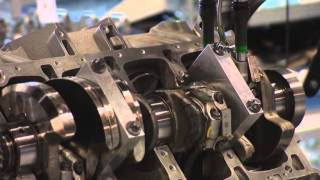 Factory AMG. Assembling the engine m156 for the Mercedes S63 AMG.