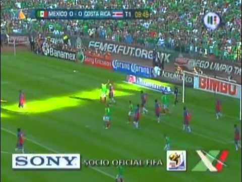 Eliminatoria Sudafrica 2010 Hexagonal: Mexico vs Costa Rica 2-0 [28/03/09] Azteca Deportes (1T)