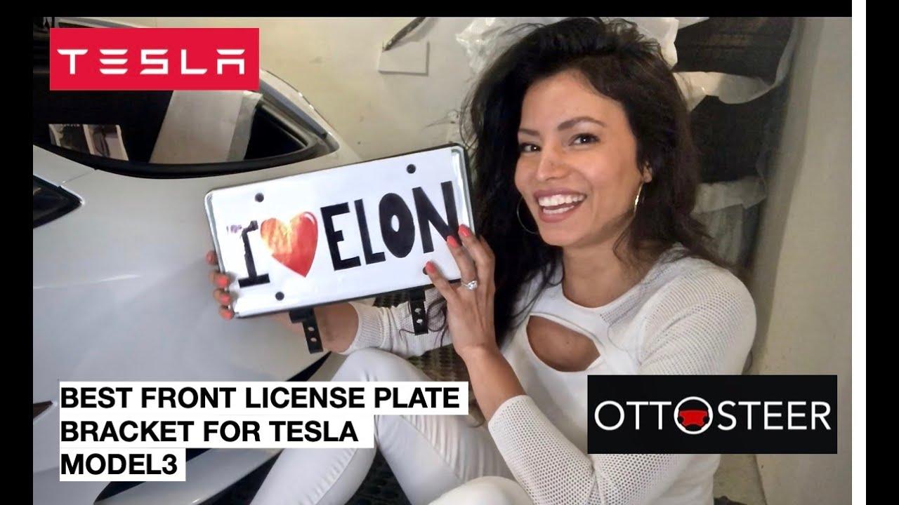 OttoStick Tesla Model 3 Magnetic Front License Plate Holder