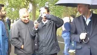 An Ignoramus Christian is Being Silenced By an Exuberant Muslim!!! Hyde Park Speakers Corner  2015