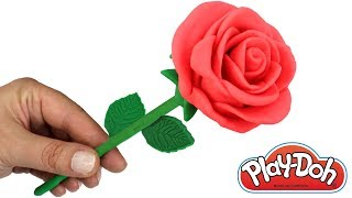 DIY Play Doh Rose for Valentine's Day How to Make Rose with Play Doh & Play Doh Butterfly for Kids