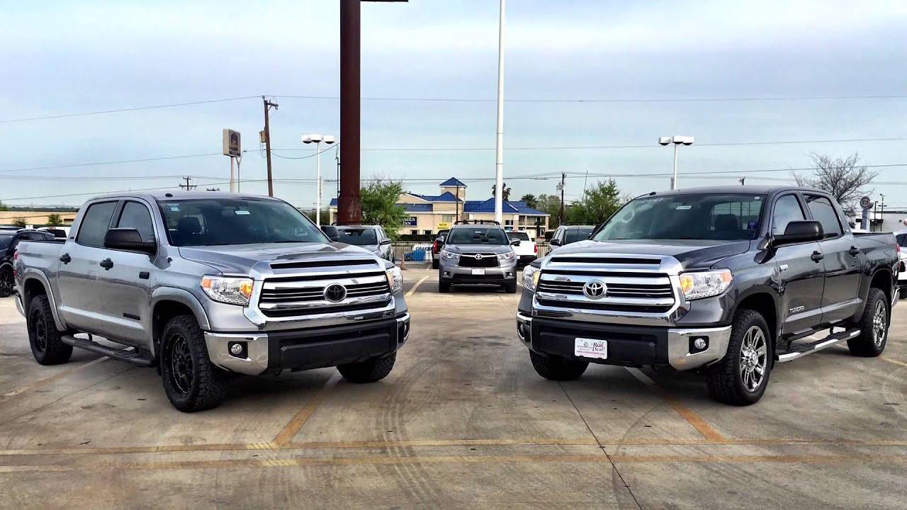 Grey Lifted Tundra >> 2016 Toyota Tundra Metallic Gray vs Silver Sky - YouTube