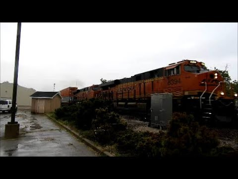 BNSF 8394 a ES44C4 leads a intermodal train east in Coal City IL