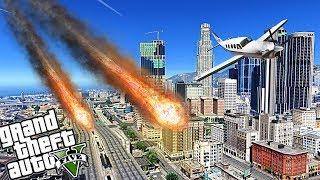 INSANE METEORS DESTROY LOS SANTOS - GTA 5 END OF LOS SANTOS APOCALYPSE MOD - MICHAEL
