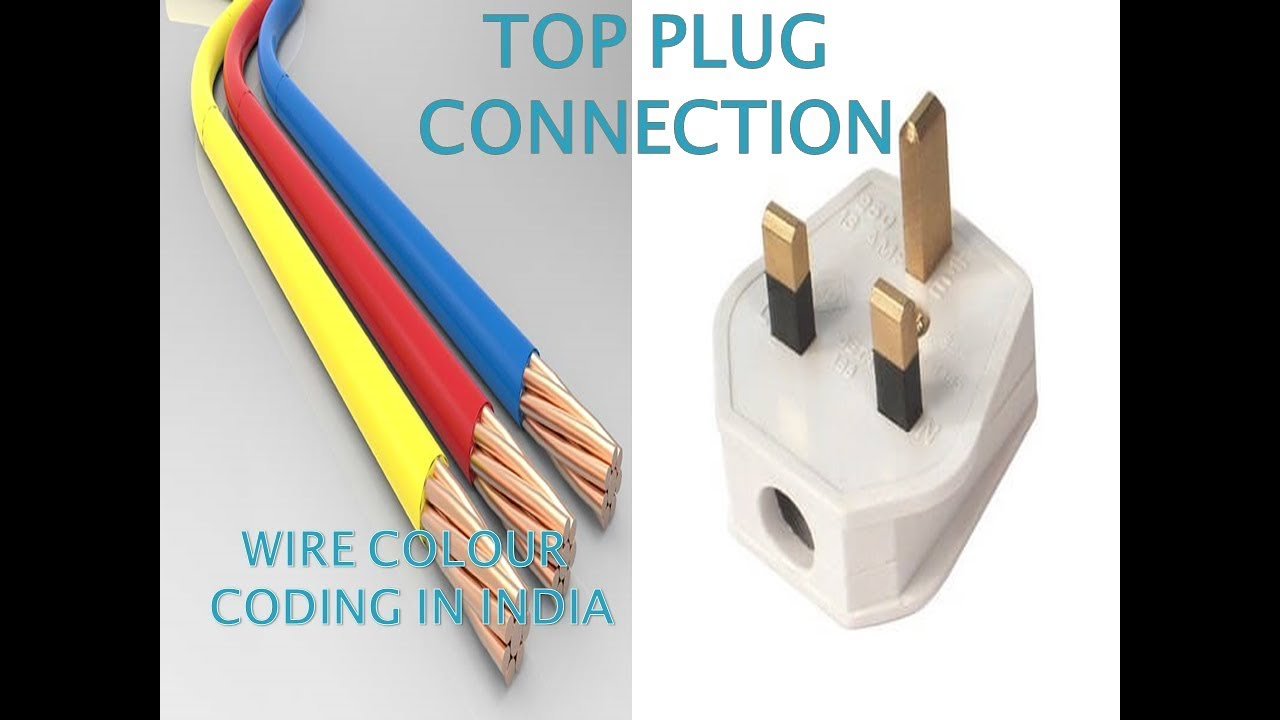 medium resolution of colour coding of wires 3 pin top plug connection electrical socket wiring india