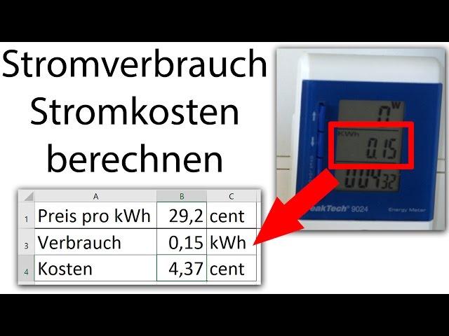 Stromverbrauch messen und Kosten selbst berechnen (Energiekostenmessgerät)