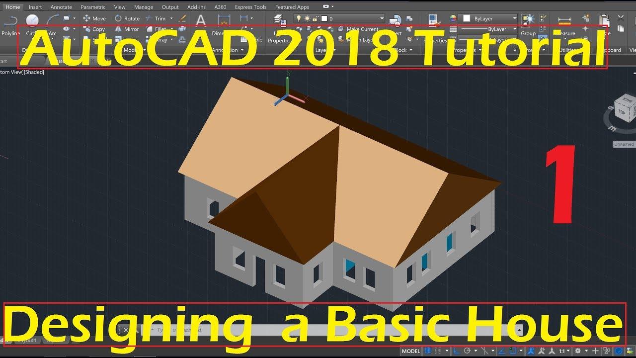 Beginner Tutorial 1 Autocad 2018 Designing A Basic House