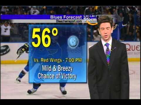 Zac Evans bleeds blue for the St  Louis Blues