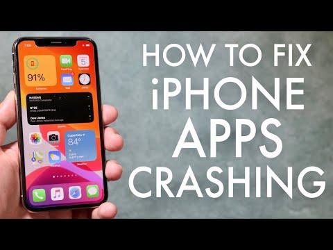 How To Fix Ios Apps Crashing Ios 14 Ios 13 Youtube