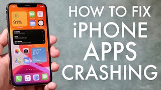 How To FIX iOS Apps Crashing! (iOS 14 / iOS 13)