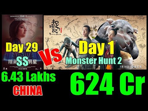 Monster Hunt 2 Vs Secret Superstar Collection In CHINA On February 16 2018