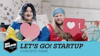 Let's go! Startup: Content Park | NEO MAGAZIN ROYALE mit Jan Böhmermann - ZDFneo