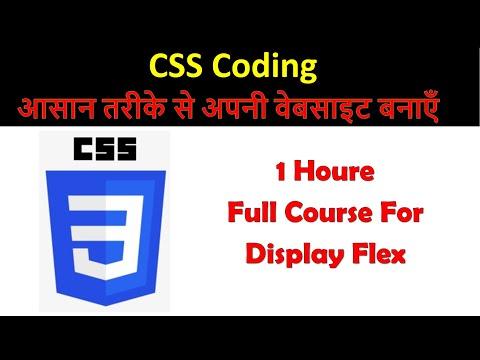 CSS Display Flex In Hindi | CSS Training | Display Flex Full Course | Web Developer Training  | CSS