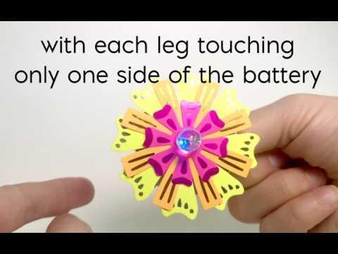 TechnoChic DIY Light-Up Paper Flower Pin Step 3