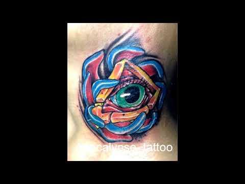apocalypse tattoo lombok colour art work