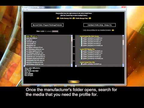 ImagePrint - Using the Profile Manager from YouTube · Duration:  1 minutes 38 seconds
