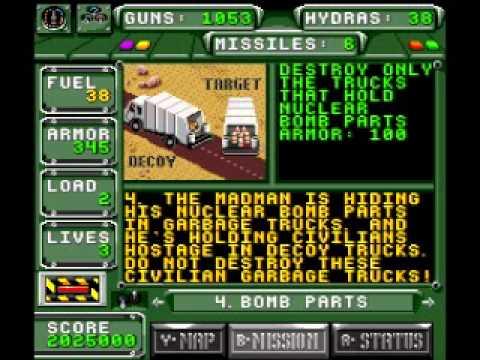 Super Nintendo Desert Strike Return To The Gulf Campaign 4
