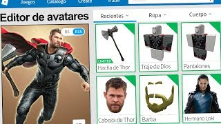 We created the PROFILE of THOR AVENGERS in ROBLOX !! | Rovi23 Roblox