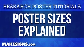 Poster Sizes - How to Properly Size Your Research Poster Design in PowerPoint(, 2014-09-11T18:52:21.000Z)