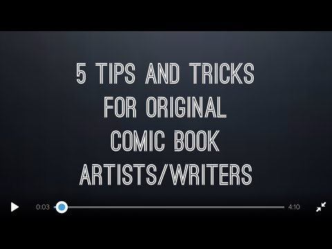 5 Tips and Tricks for original comic book artists/ writers