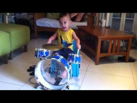 My First Band Drum With Eli Youtube