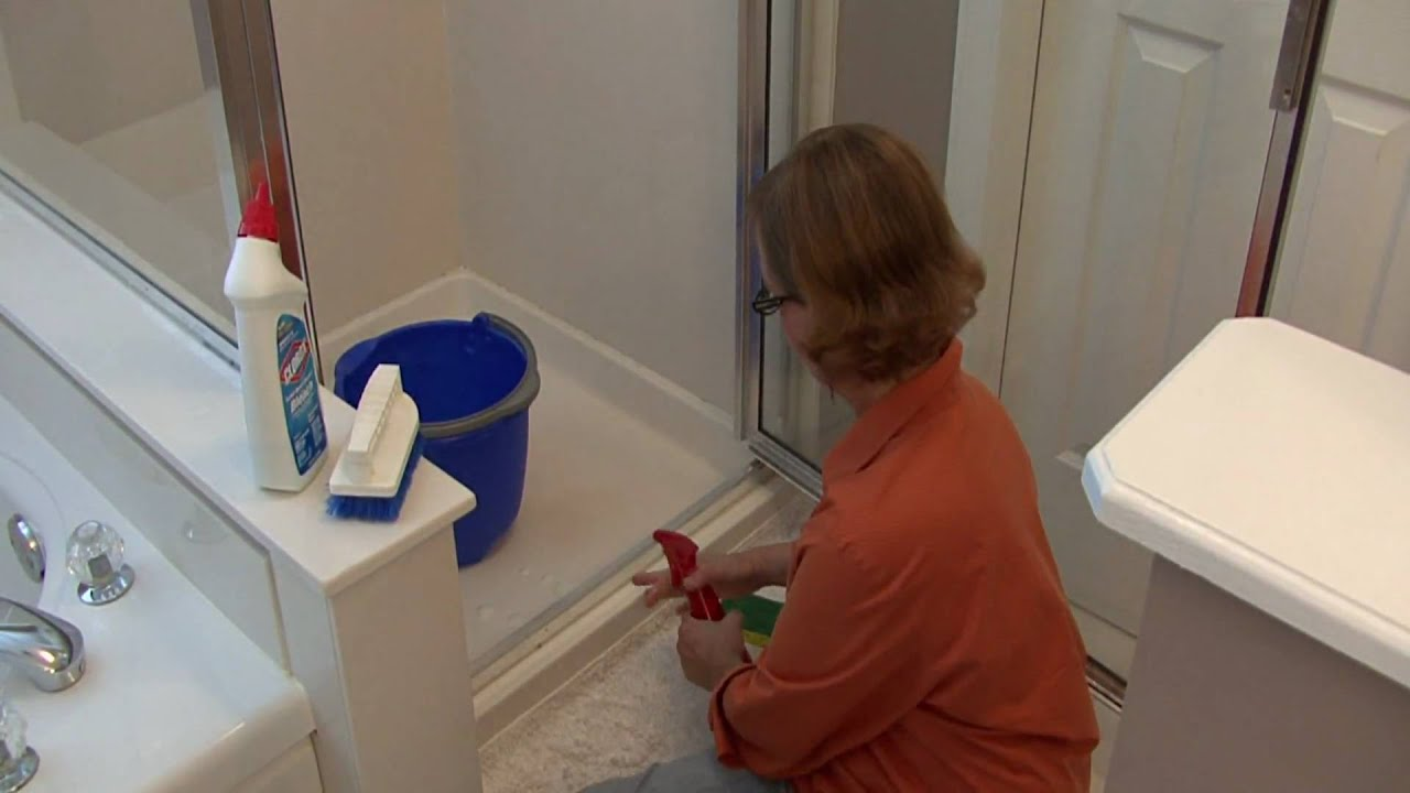 Bathroom Cleaning Tips : How To Clean Shower Door Tracks   YouTube