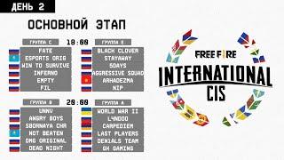 Free Fire CIS International Cup 2020 - Основной этап | День 2