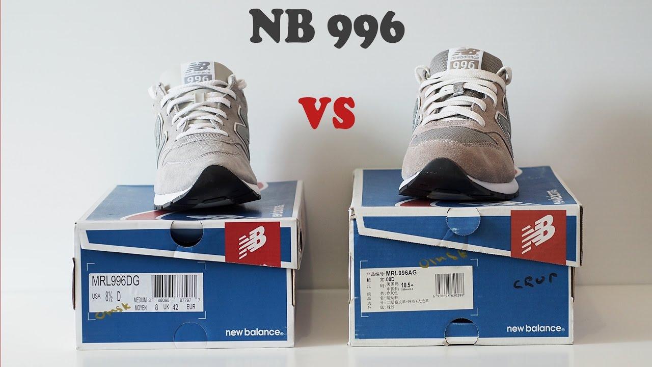 4ed22625de32 New Balance 996  оригинал vs подделка  - YouTube