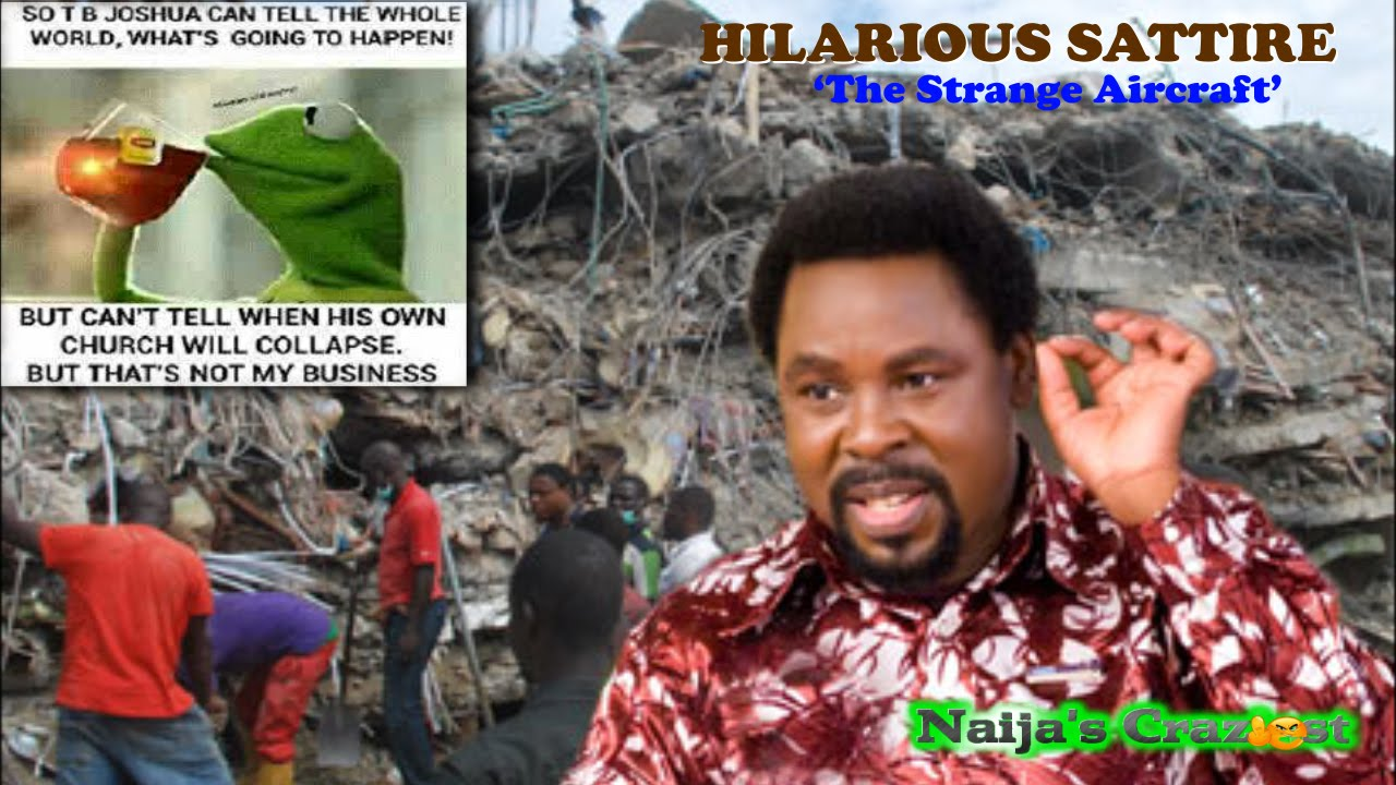 Download Prophet Tb Joshua Can See Visions But Cant See His Synagogue Church Building Collapse-Hilarious Vid