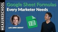 Google Sheet Formulas Every Marketer Needs (feat. David Krevitt)