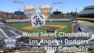 Dodgers 2020 World Series Championship Ring Ceremony (2021) | FULL