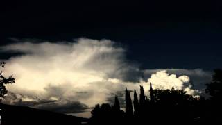 Thunderstorm anvil decay and cumulus forming timelapse V09955