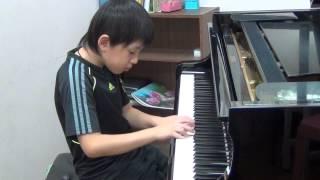 20150722 蘇翊 鋼琴 文化盃賽前練習 哈察都量 小奏鳴曲 第三樂章 百分音樂學苑 台南 音樂教室