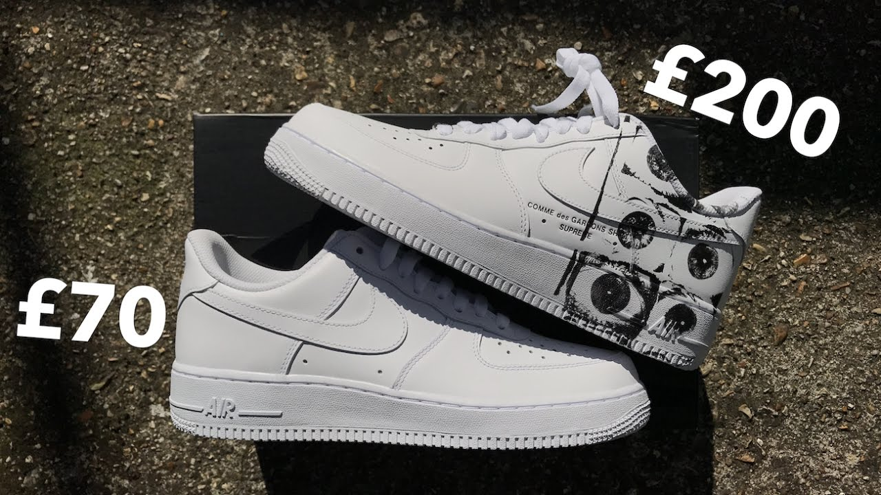 official photos 76d0a 9df2f SUPREME CDG AIR FORCE 1 | WORTH £200?!