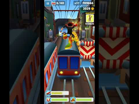 Subway Surfers Iceland: going for 40 eggs in one run...
